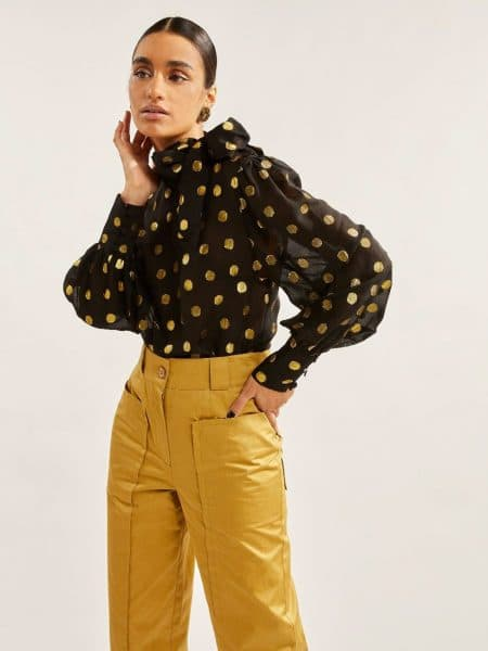 Les Coyotes De Paris Angelina Blouse All-over Dot