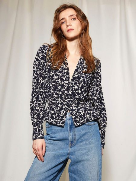 Les Coyotes De Paris Nina Blouse Big Navy Flower