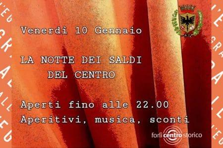 La notte dei saldi del centro Forlì